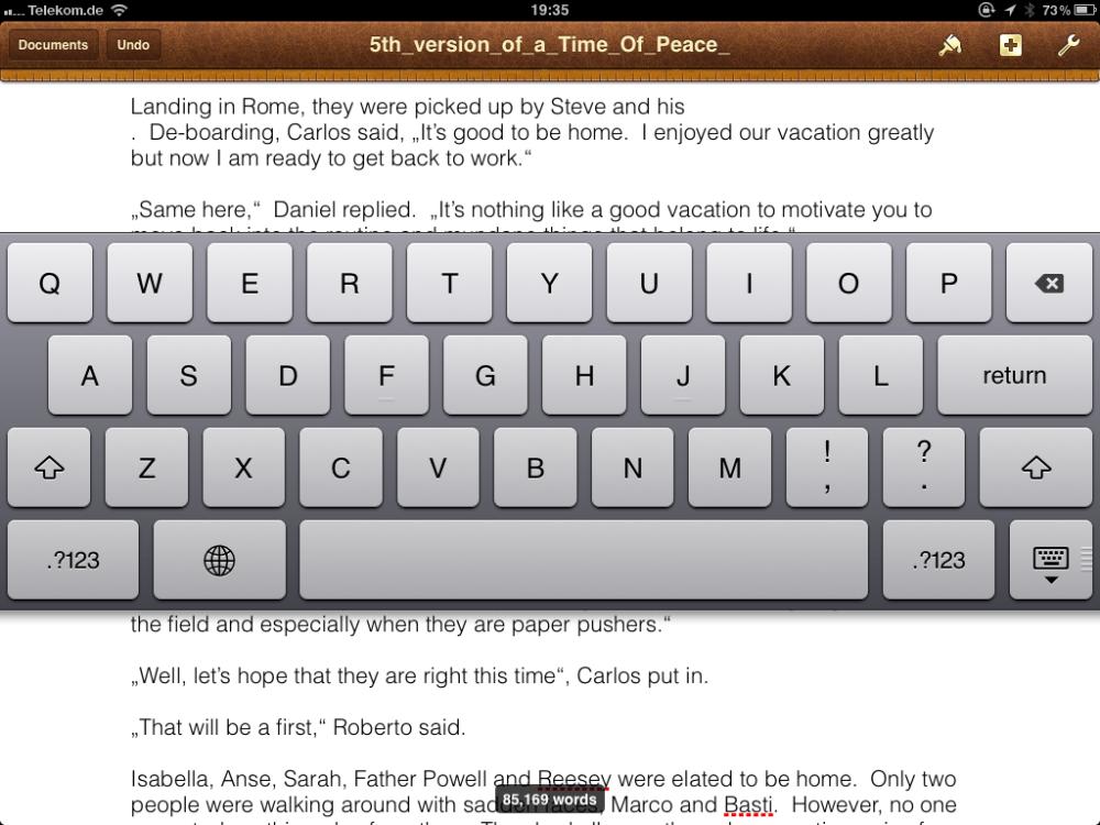 Splitting Your Virtual Keyboard on the First Generation iPad (5/5)